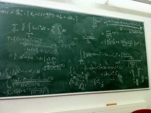 A blackboard after some discussions